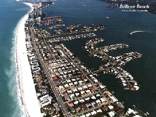 North end of Belleair Beach Florida from the Air