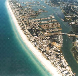 Mid and South End of Belleair Beach Florida from Florida